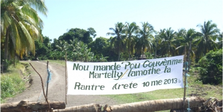 Ile a Vache population as gov rescind May 2013 decree to confiscate their property