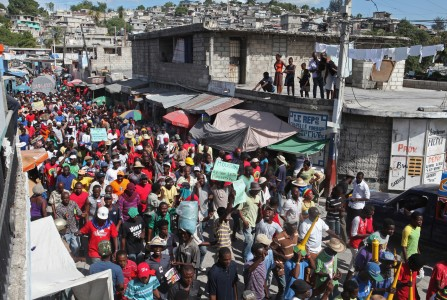 December 6 - Haiti protestors: Anbake