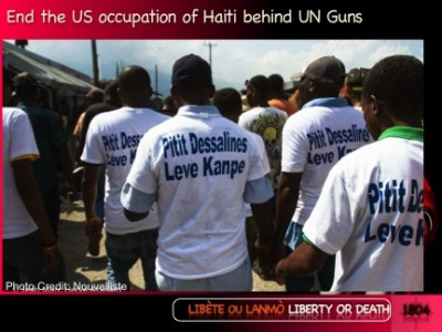 Haiti Resistance to new US slavery behind UN guns & NGO humanitarian imperialism