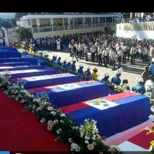 Saturday, February 21, 2015 government funeral for 17 carnival victims