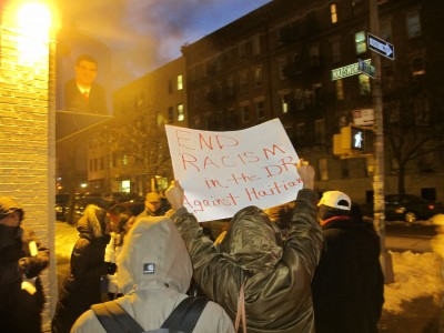 Black lives matter. Condenm racist lynch mob in DR, Vigil for Tulile, February 12, 2015