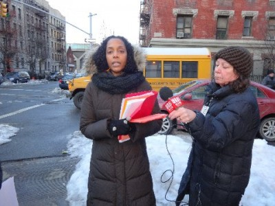 "Rocio Silverio of ""We Are All Dominicans,"" the protest organizers."