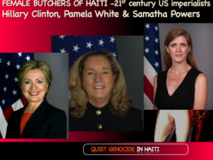 butchers of haiti, Clinton, white and powers