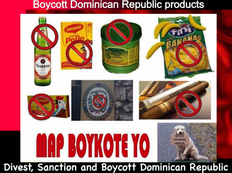 Boycott Dominican Republic products