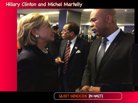 Hillary Clinton and Michel Martelly