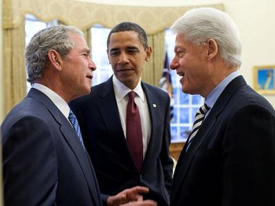 George W. Bush, Barack Obama, Bill Clinton