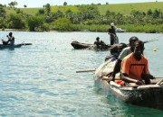 Haiti fisherman at Kay Kok, Ile a Vache who are asked to leave their coastal homes to make way for tourist resorts