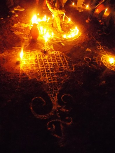Sacred burning heart of warrior queen, Ezili Dantò