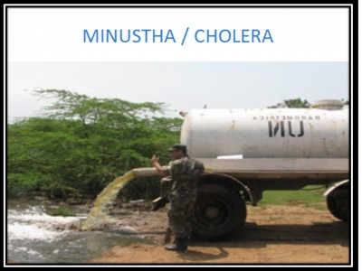The UN-MINUSTAH mission in Haiti has killed over 10,000 Haitians with UN-cholera and infected 850,000 more with the deadly bacteria. End US occupation of Haiti behind these UN guns.