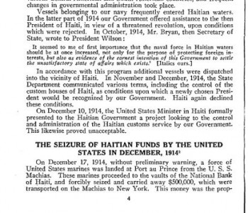 US seizure of Haiti gold