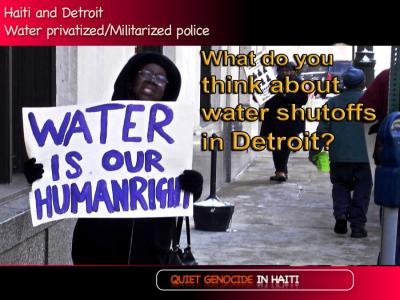 """Access to uncontaminated portable drinking water is a human right, a life necessity that must be placed above all commercial and political considerations."" - Ezili Dantò of HLLN."