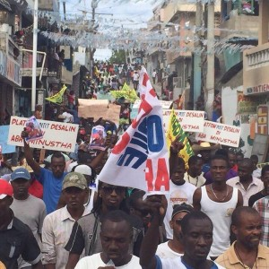 Haiti Protest Against the UN and US colonial occupation and Michel Martelly puppet government, Jan 11, 2015 * Platfòm Pitit Desalin di ABA MINUSTAH - Desalin's descendants say Down with the UN, Martelly must leave