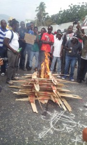 Rele Petwo yo, Feb 7, 2015 Haiti protest against US occupation and Martelly dictatorship