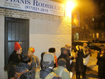 Vigil for Tulile in front of Dominican-American councilman, Ydanis offices in NY, Feb 12, 2015