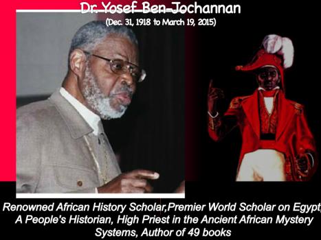 Dr. Yosef Ben-Jochannan, African Historian, Egyptologist, Master teacher