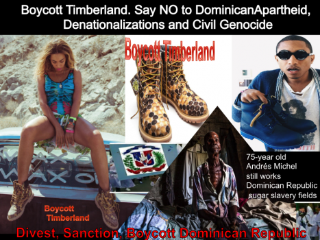 Educate your favorite artists about the DR apartheid they're unwittingly supporting, Boycott Dominican Republic products, services, tourism and trade. Stop the racist denationalization of Dominicans of Haitian descent going back to 1929!