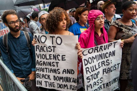 Corrupt Dominican Rulers: Stop Racist Mass Deportation / Photo  Credit: Tony Sovino