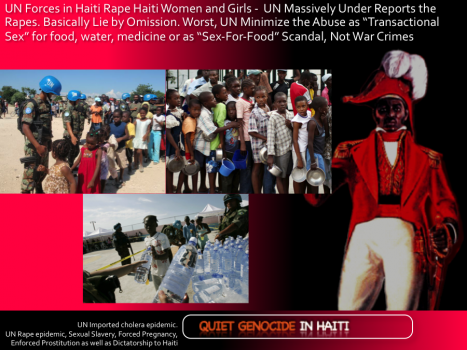 UN rape, pedophilia, sex slavery and enforced prostitution in Haiti