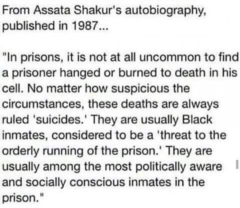 Assata Shakur speaks about US incarceration and routine murder of prisoners