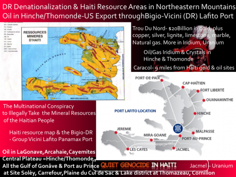 There's a multinational conspiracy to illegally take the mineral resources of the Haitian people