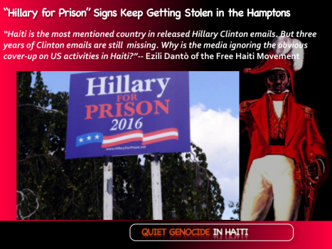 """Hillary for Prison""€ Signs Keep Getting Stolen in the Hamptons"