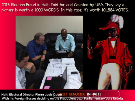 Haiti Electoral Director Pierre Louis Opont With his Foreign Bosses deciding on the Haiti vote