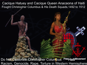 Queen Anacaona and Cacique Hatuey of Haiti