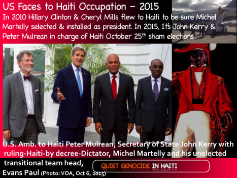 US sham elections in Haiti with John Kerry, Peter Mulrean