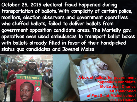 October 25th electoral fraud occurred not with violence but through ballot stuffing, discarding votes for government opposition candidates, gov monitors, observers voting multiple times