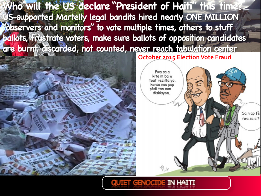 US election scam in Haiti, 2015