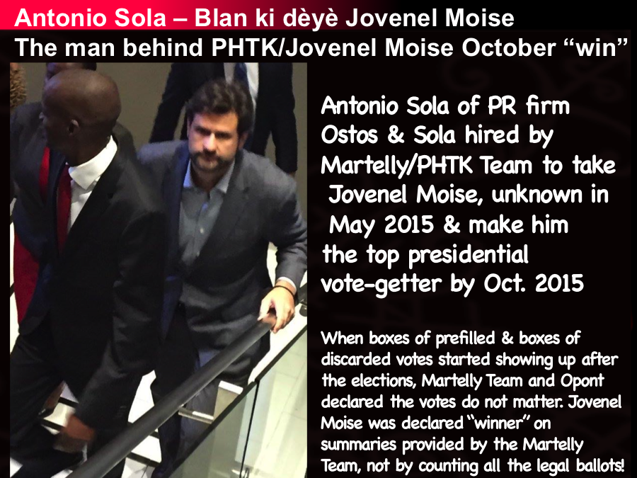 Antonio Sola the man behind Jovenel Moise