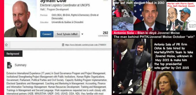 "UN /OAS/US Embassy – Sandra Honoré, Sylvain Cote, Antonio ""Sal"" Sola, Kenneth Merten: Foreigners named in Haiti  2015-2016 electoral fraud"