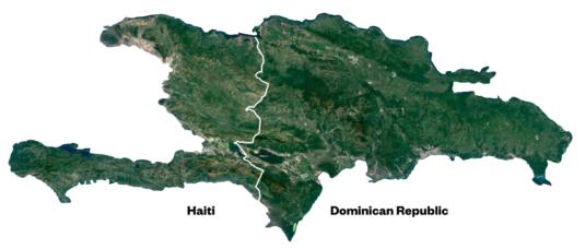 Satellite Photo Showing Haiti Deforestation Lie
